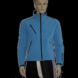 Softshelljacke für Männer, Softshelljacket for Men, hellblau, light blue, mit Gewehraufdruck