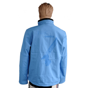 Softshelljacke für Männer, Softshelljacket for Men, hellblau, light blue, mit Pistolenaufdruck