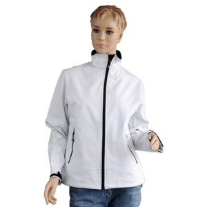 Damensoftshelljacke, weiß, Women Softshelljacket, white